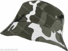 Mens Camouflage Camo Print Beanie Bush Hat Adults Fishing Camping Sun Cap