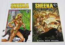 Sheena Queen of the Jungle #3 A & #3 C Variant Cover Both Signed MOONSTONE 2014