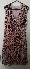 Principles pink leopard print wrap dress bnwt
