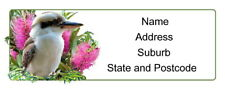 30 Personalised Quality Plus Adhesive Address Labels-Kookaburra and Bottlebrush