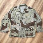 Vintage US Army Chocoate Chip Desert Camo Combat Jacket Mens Medium 90s Button