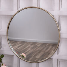 Extra Large Round Wall Mirror Antique Gold Living Hallway Bedroom Gift Home
