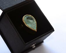 11.94ct Emerald ring 18ct gold hallmarked certificate chunky 13.14 g gold ring
