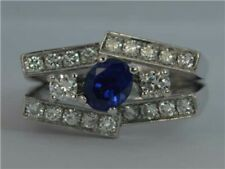 Stunning Sapphire and VS Diamond 18ct White Gold Cluster Ring