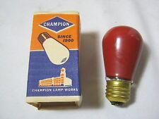 Champion 10 Watt Red vintage light bulb New Old Stock