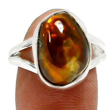 Mexican Fire Agate 925 Sterling Silver Ring Jewelry s.8 RR73057