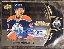 Connor McDavid 2015-16 Full Force Valuable Assets RC Auto Edmonton Oilers