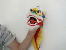 CHINESE WHITE LUCKY DRAGON LION HEAD DANCE HAND MUPPET PUPPET NEW YEAR PARTY C2