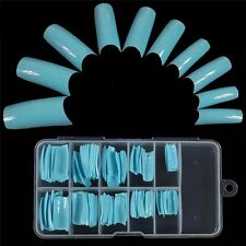 100 PCS False Acrylic Gel French Nail Art Half Tips Salon 10 Size 9 Colors IL