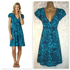 MANTARAY DEBENHAMS DRESS SIZE 12, Turquoise Blue Floral Casual jersey dress