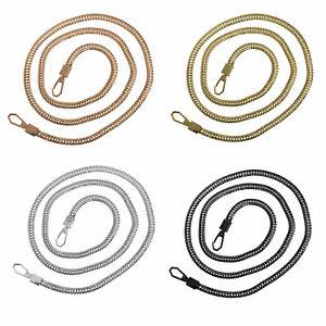 Replacement Metal Purse Chain Strap Handle w/Buckle Clasp Shoulder Bag Handbag