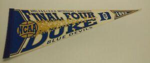 1992 Wincraft Final Four Duke Blue Devils NCAA Basketball Pennant