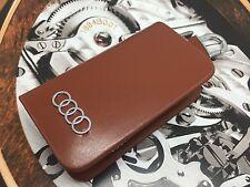 Audi Key Wallet Key Holder Brown Caramel Leather Fits All Keys