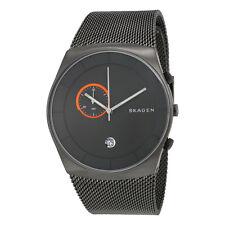 Skagen Havene Grey Dial Stainless Steel Mesh Bracelet Mens Watch SKW6186