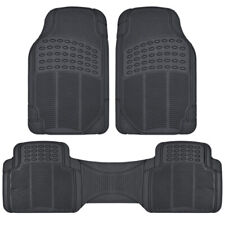 Auto Floor Mats for Car SUV Van All Weather 3 Piece Set Rubber Liners
