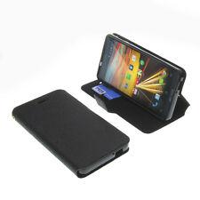 Tasche f. Archos 50B Helium Smartphone BookStyle Schutz Handy Hülle Buch Schwarz