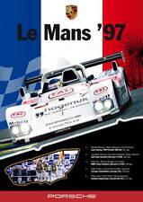 Le Mans Porsche 1997 full colour Large promo poster