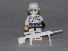 Lego Custom Minifig WW2 Modern Warfare Winter German Sniper with weapons