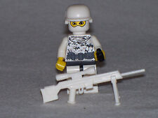 Lego Custom Minifig WW2 Modern Warfare Winter Wehrmacht Sniper with weapons