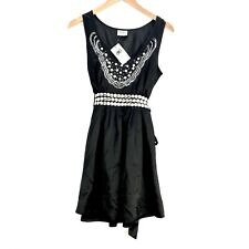 Raw Dress Size 8 Sequins Studs Tie Back Sleeveless Fully Lined Womens Girls
