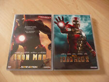 2 DVD Set Iron Man + Iron Man 2 - Robert Downey Jr. Gwyneth Paltrow