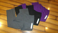 Hanes Sweat/Lounge Pants-Fleece Lined-Open/Wider Leg-Purple/Gray/Black-Small-New