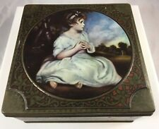Antique Thorn's Premier Toffee Candy  England Age Of Indulgence Art Tin Box