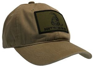 Don't Tread On Me 'Dad' Cap 100% Unstructured Cotton Hat Khaki & OD Green