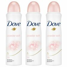 3 x Dove Powder Soft Spray Deodorant Anti Perspirant 150 Ml / 5.07oz from USA