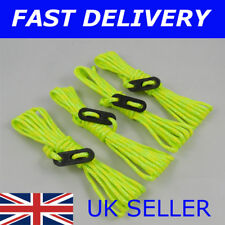 X4 Bright YELLOW & GREEN Guy Line Ropes 2.4 M Tent Camping Gazebo Rope Paracord