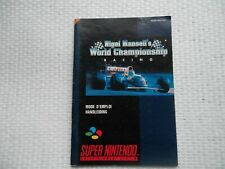 Notice Super nintendo / Snes manuel Nigel Mansell Racing PAL original Booklet *