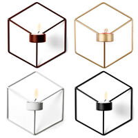 Nordic Style 3D Geometric Candlestick Wall Candle Holder Sconce Home Room Decor