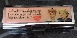 I Love Lucy - Lucy & Ethel Metal Eyeglass Case / Tampon Case By Vandor NOS NIB