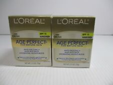 2 L'OREAL AGE PERFECT MATURE SKIN SPF 15 DAY CREAM 2.5 OZ EA EXP: 7/20+ JL 5113