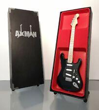 David Gilmour (Pink Floyd) - Black Strat: Miniature Guitar Replica (UK Seller)