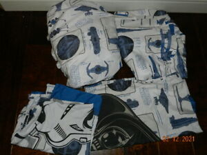 Star Wars Sheet Kohl's Exclusive FULL polyester flat fitted 2 pillowcases 4 pc