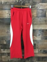 Nike Team Women's Red & White Elastic Waist Warmup Pants Size M