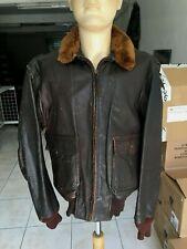 Vintage Worl War II / Korea U.S Navy USN G.1 Leather Flight Jacket Size 40