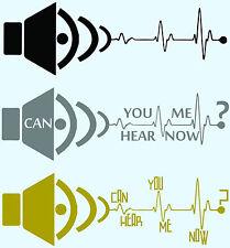 Sub woofer Bass Heartbeat Sticker Decal Car Drift Hoonigan Stance Illest JDM wrx