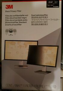 3M Privacy Filter for 23.8 in. Widescreen Monitor PF238W9B Black