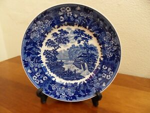 WEDGWOOD QUEENS WARE BLUE AND WHITE COLLECTION  * WATERMILL * PLATE