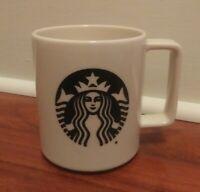 Starbucks Coffee Mug 2015 Black Siren Mermaid Logo Off White Made in USA 14 oz