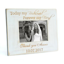 Custom Bridesmaid Photo Frame Personalized Bridesmaid Gifts Maid of Honor Frame