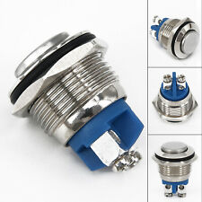 30-AMP METAL MOMENTARY WATERPROOF SWITCH 12V DC 16MM HORN STARTER NITROUS BUTTON