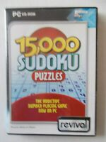 + 15,000 SUDOKU PUZZLES [PC CD-ROM] By REVIVAL [BRAND NEW] AUSSIE SELLER