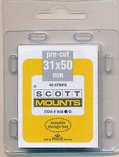 Prinz Scott Stamp Mounts Size 31/50 Black Pack of 40