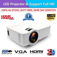 Portable 1080P 7000 Lumens HD LED Multimedia Projector Home Cinema Theater HDMI