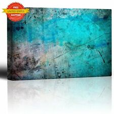 Modern Abstract Canvas Print Wall Art Decor Blue Turquoise Poster Painting 16X24