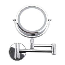 Led Makeup Mirror 1X/3X Magnification Wall Mounted Adjustable Cosmetic Mirror