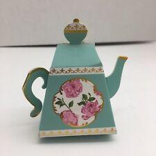 Kate Aspen Tea Time Aqua Teapot Favor Box Set of 22, 22 Pieces, Opened Package